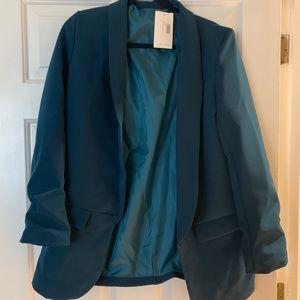 Nasty gal/ jail fashion blazer with tags. Teal.